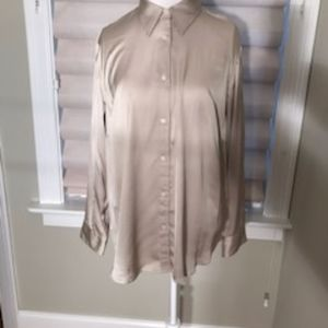 NWT - Taupe Silky Ralph Lauren Blouse